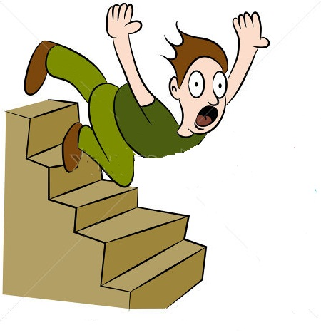 Clip Art Falling Off Stairs Clipart.