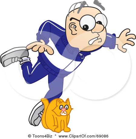 Elderly Fall Prevention Clipart.