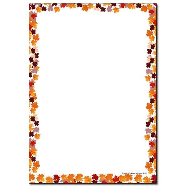 Leaf Page Border Free Download Clip Art.