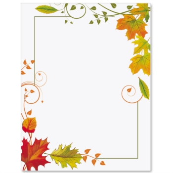 Fall Harvest Clipart Border.