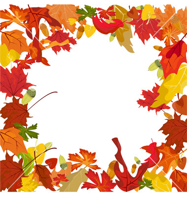 Autumn page borders free.