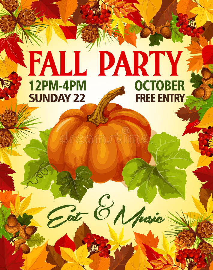 Fall Vector Party Stock Illustrations.