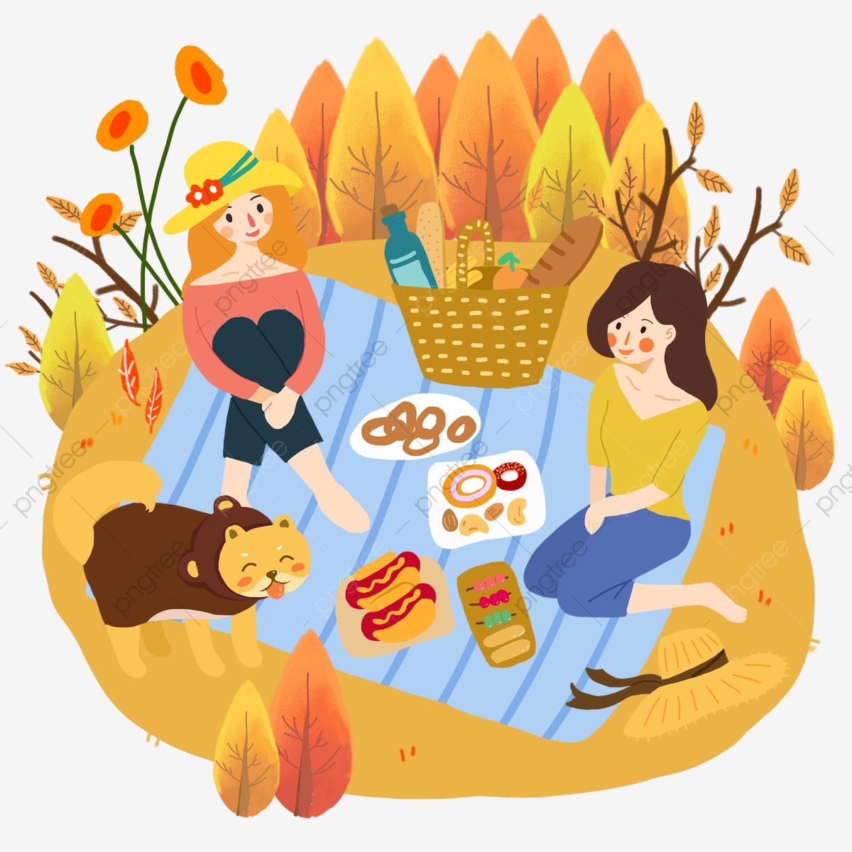 Fall Autumn Day Autumn Juvenile, Teenage Girl, Grassland, Picnic PNG.