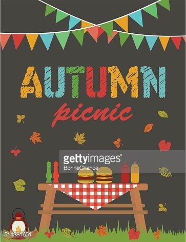 Autumn Picnic premium clipart.
