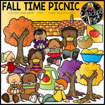Fall/Autumn Time Picnic Clip Art Set {Educlips Clipart}.