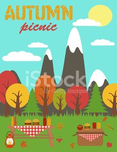 Autumn Picnic Party premium clipart.