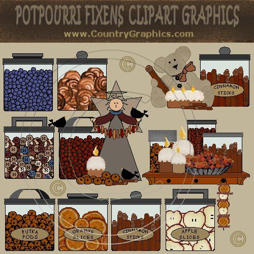Prim Fixins Labels and Clipart Graphics.