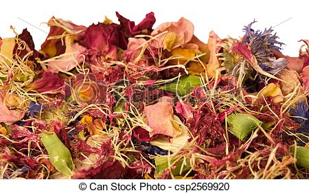 Stock Photography of aromatherapy potpourri mix of dried aromatic.