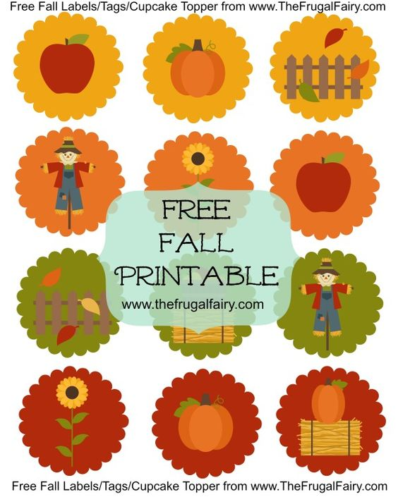 Label tag, Cupcake toppers and Fall on Pinterest.