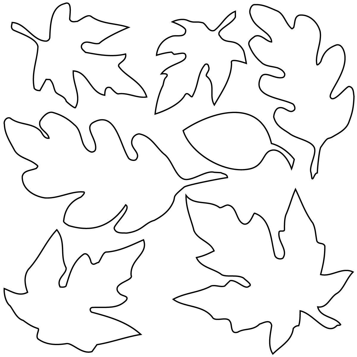 Best Fall Leaves Clip Art Black And White #21680.