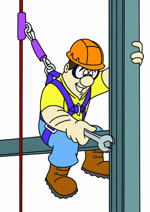 Fall Protection Inspection Clipart.