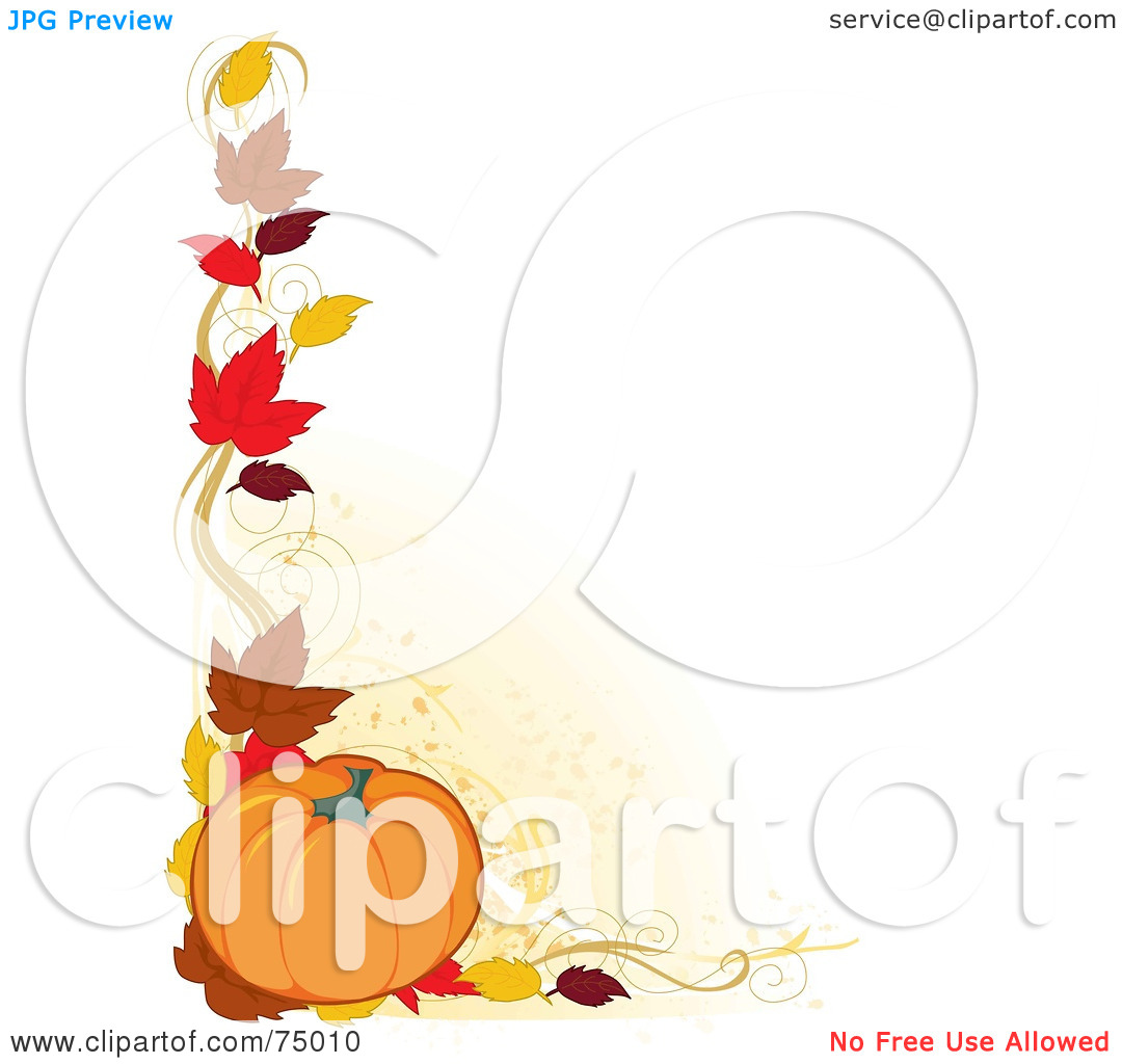 Fall Pumpkin Border.