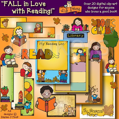 Fall Reading Clipart (26+).