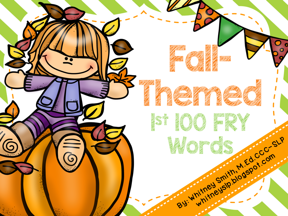 Let's Talk! with Whitneyslp: Fall Into Reading.Sight Words.