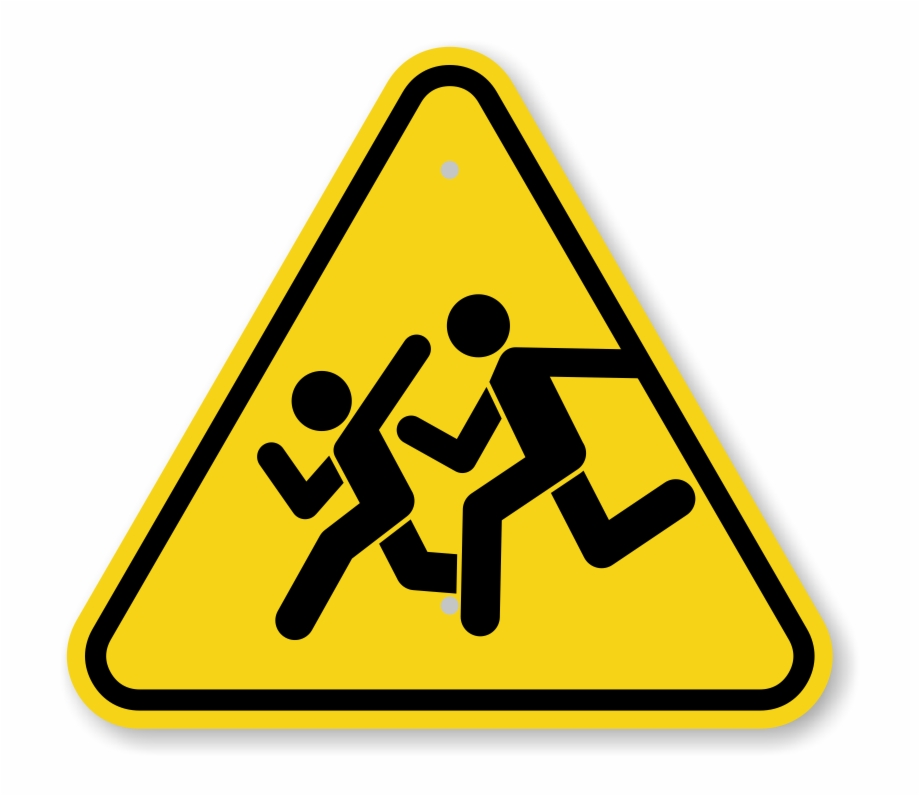 Watch For Children Pedestrian Sign.