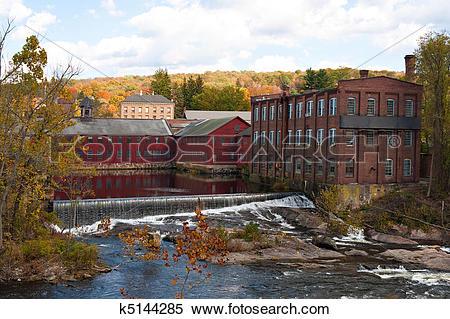 Stock Image of Fall River Scene k5144285.