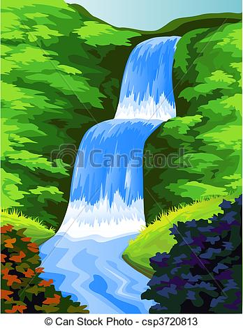 Vectors of beautiful water fall.