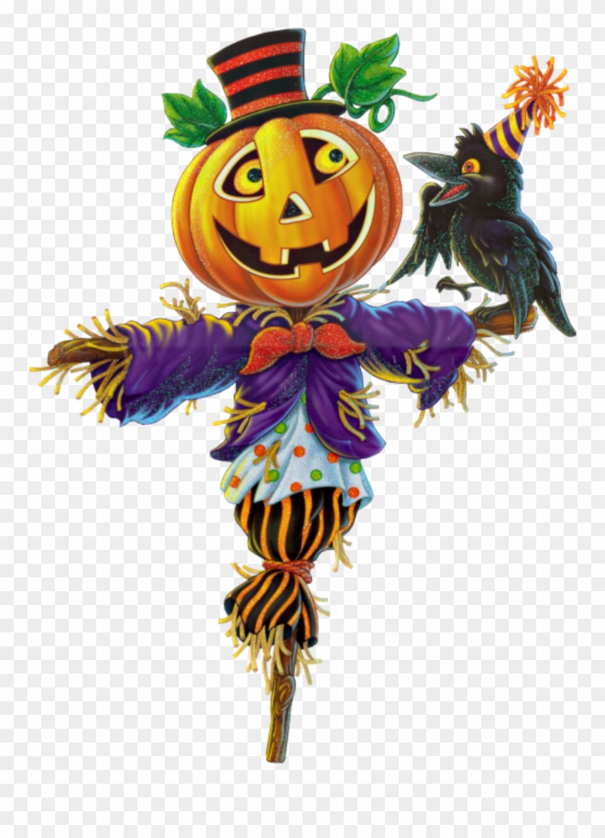 Ftestickers Autumn Halloween Scarecrow Pumpkin Clipart.