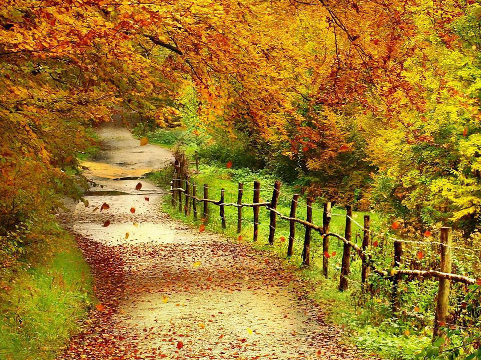Fall Scenery Clipart.
