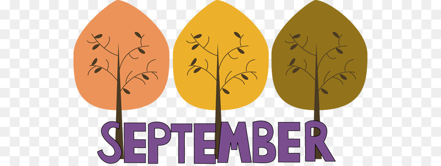 September Cartoon clipart.