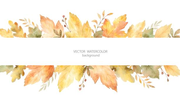 Fall clip art vector.