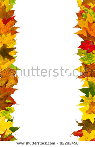 Fall Leaves Border Stock Images, Royalty.