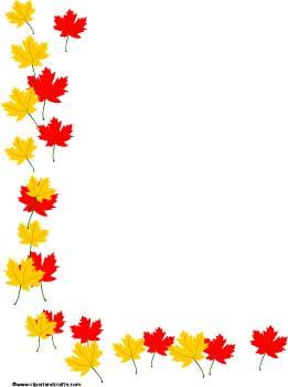 Fall Leaf Border Clip Art.