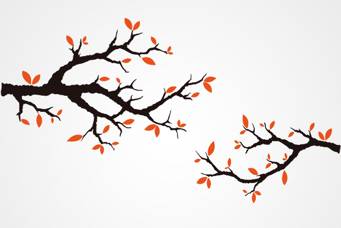 Fall tree branch clipart png.