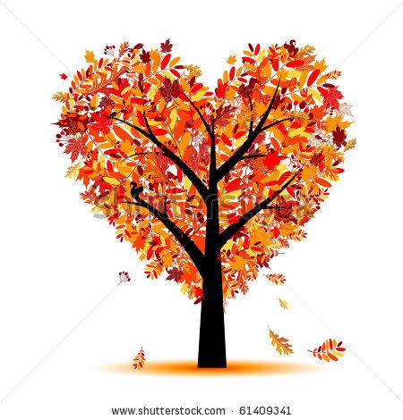 Fall Heart Tree Clipart.