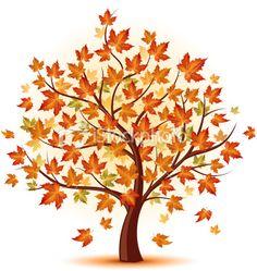Clipart fall tree.