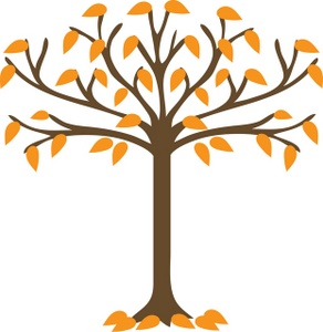 Fall Tree Clipart Black And White.