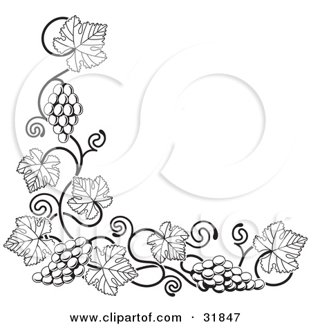 Fall Tree Clipart Black And White Vines.