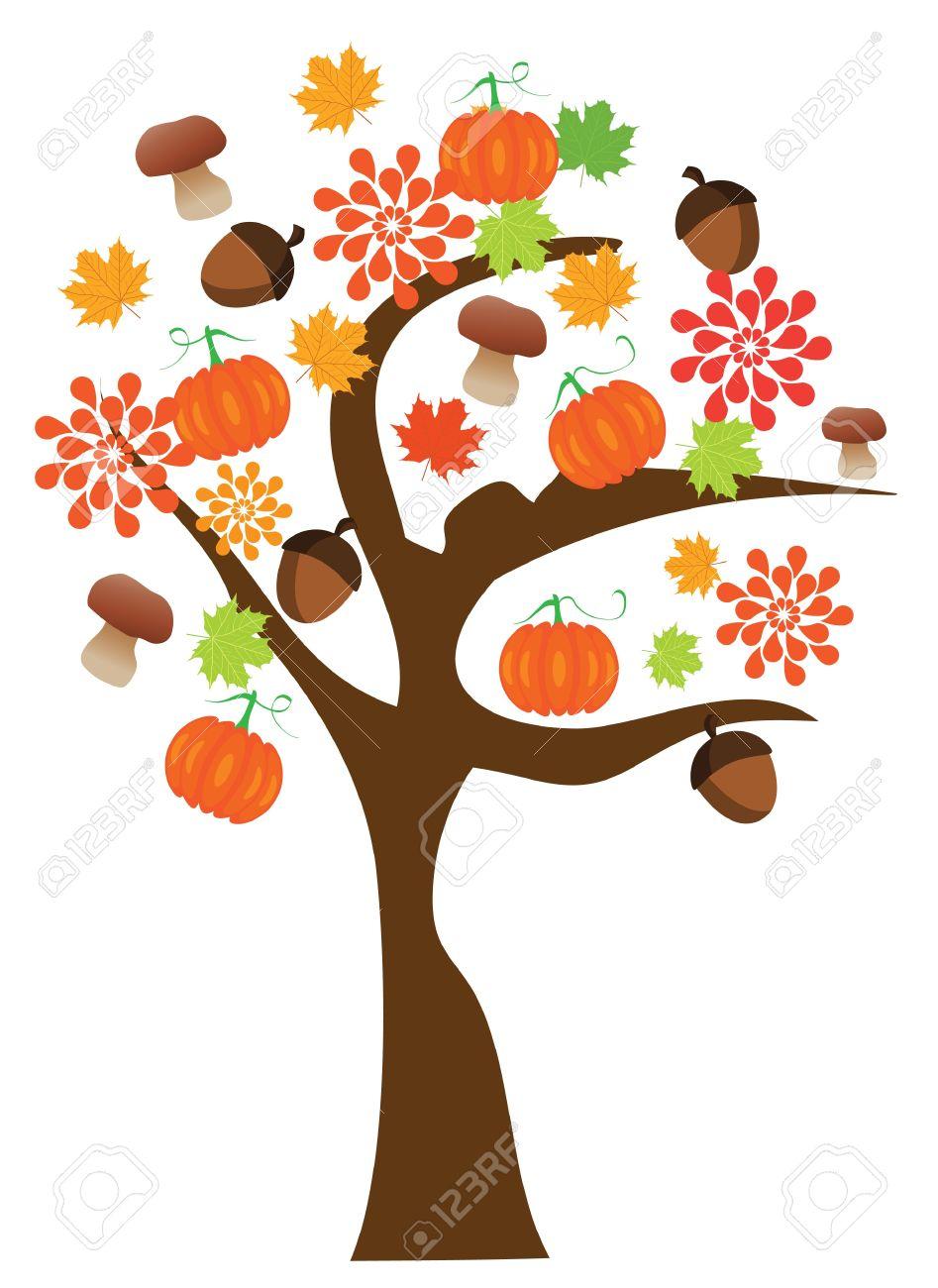 Vector Fall Tree Royalty Free Cliparts, Vectors, And Stock.