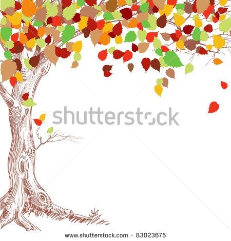 Fall Tree Trunk Clip Art.