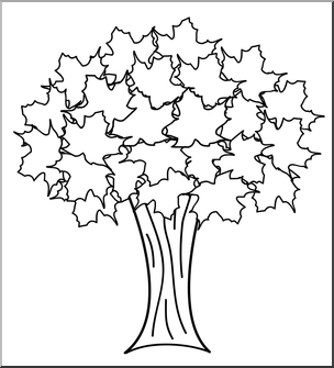 Autumn Trees Clipart Black And White.