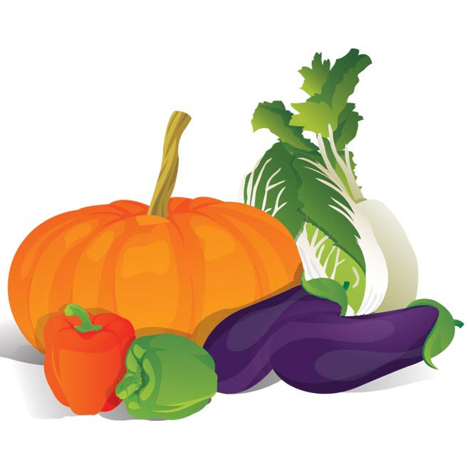Mixed Vegetable Clipart.