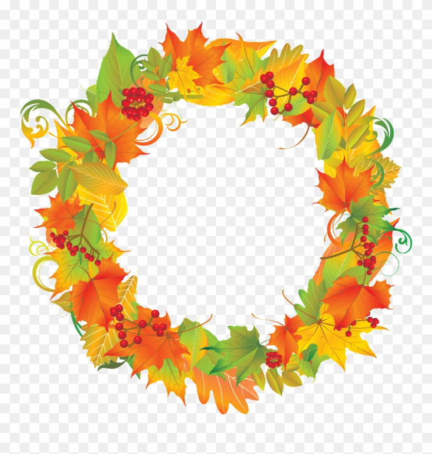 Fall Clip Art, Autumn Wreaths, Subway Art, Clipart.
