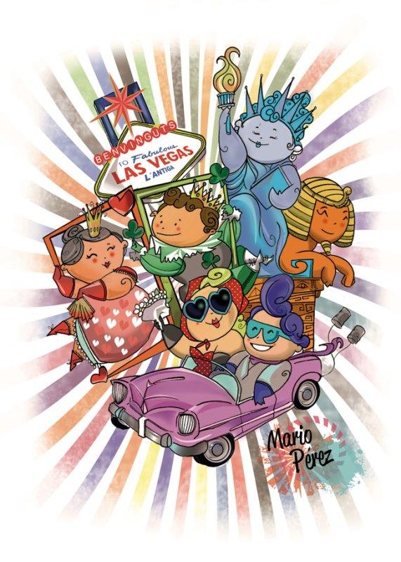 Maquetas y bocetos 2015 de la Federación de Fallas de Especial.