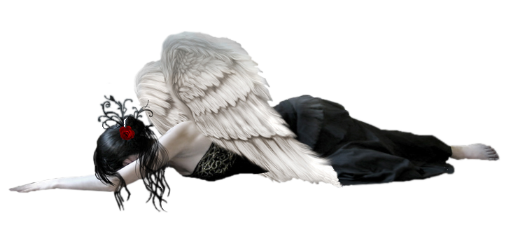 Fallen Angel Free PNG Clipart Picture.