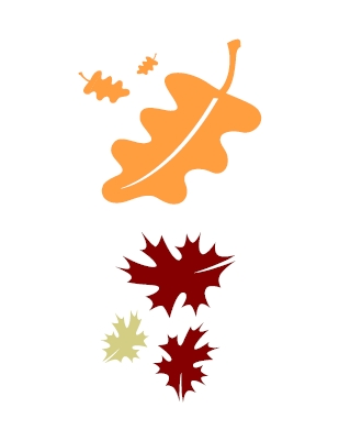 Fallen Leaves Clip Art.