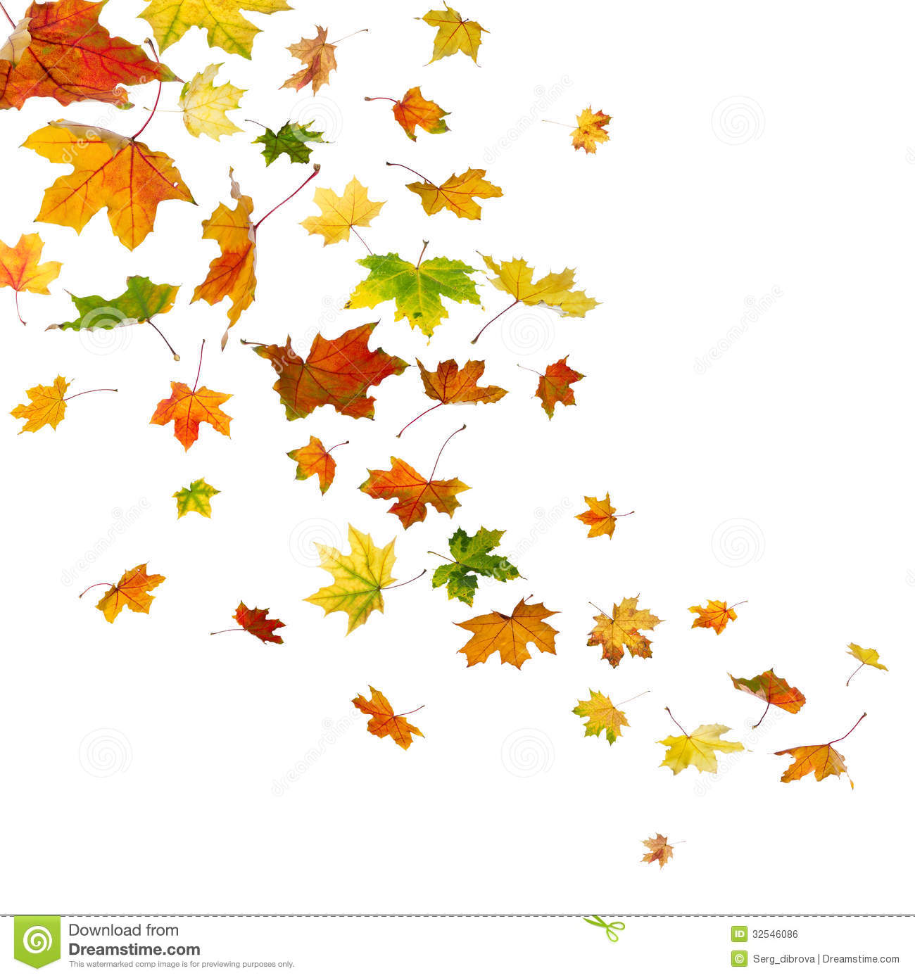 Animated falling leaves clipart.