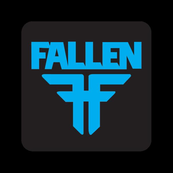 Printed vinyl Fallen Logo Black Blue.