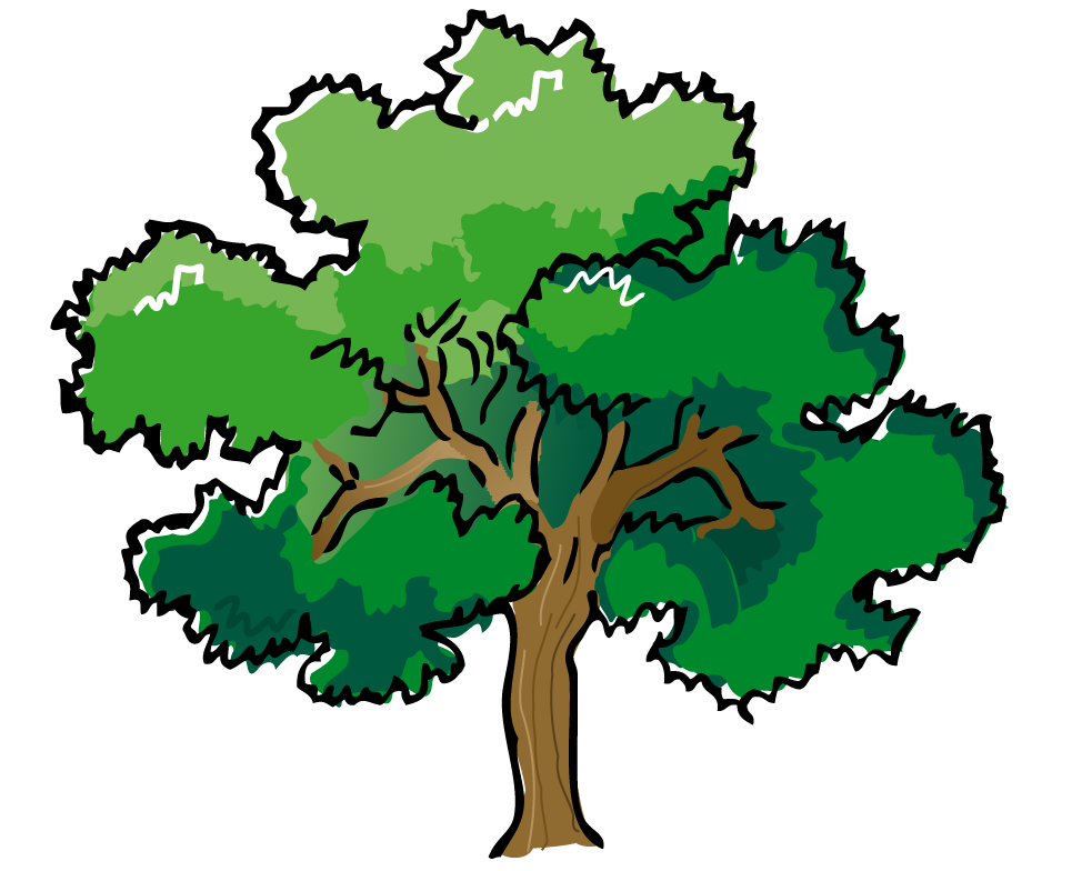 Fallen Tree in Forest Clip Art.