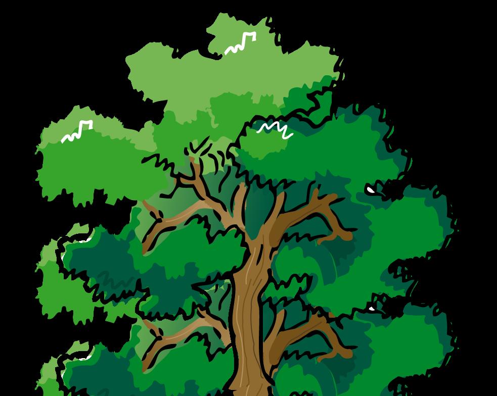 Fallen Tree in Forest Clip Art.