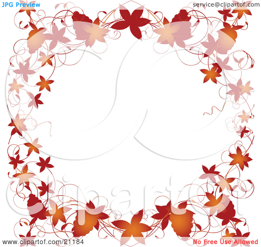 Wallpapers Grapevines Autumn Clipart Image Page Border Fallen.