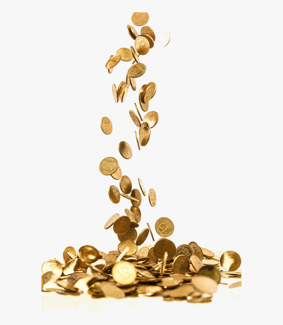 Falling Coins Png Free Download.