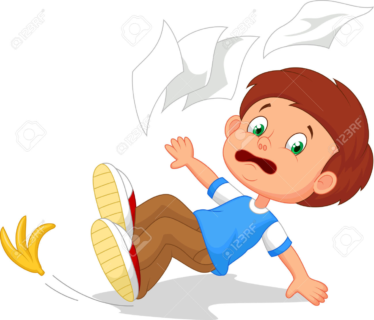 Clipart falling down.