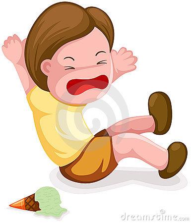 Boy falling down clipart.