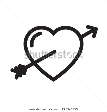 Falling in love clipart.