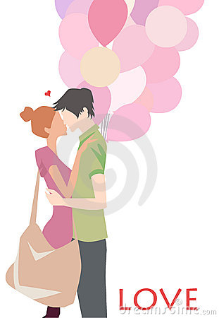 Boy And Girl Fall In Love Royalty Free Stock Photo.